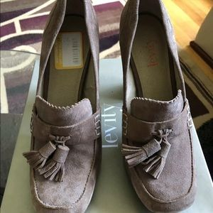 Levity Naomi Tan Suede Leather Loafer